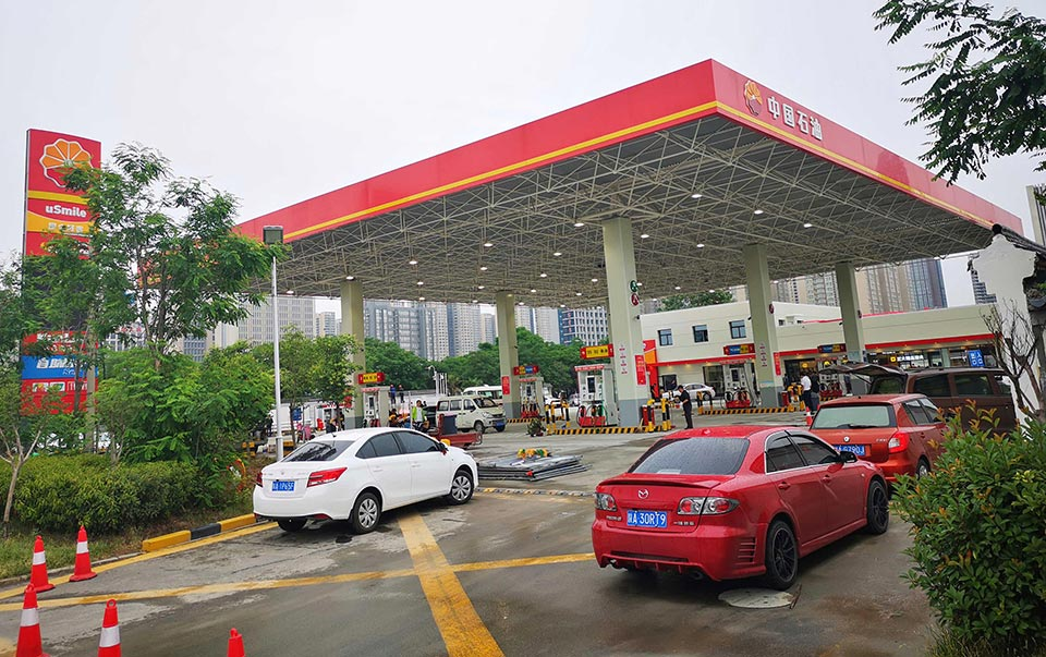 Demonstration Gas Station and Convenience Store LED Smart Control Lighting Project-Venue of China National Petroleum Corporation